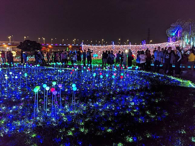 蝴蝶公園夜間光雕
