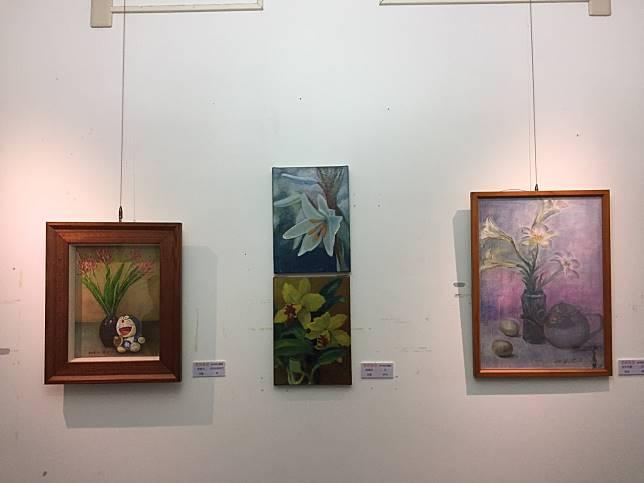九代葱油餅美食結合藝文,展場雖小,展風却不亞於任何藝文館。