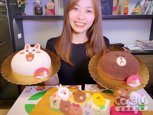 超可愛LINE FRIENDS造型蛋糕,讓粉絲驚呼連連,讓熊大兔兔陪伴戰勝食慾不振的夏天(圖/85℃ 提供)