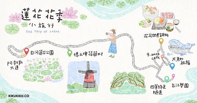 20190411台灣花季-蓮花地圖