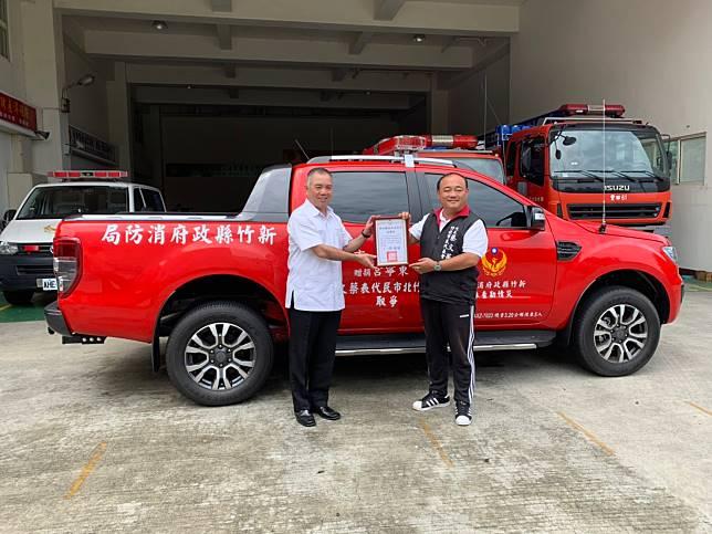 守護竹北西區民眾安全 熱心民眾出錢出力支持消防弟兄