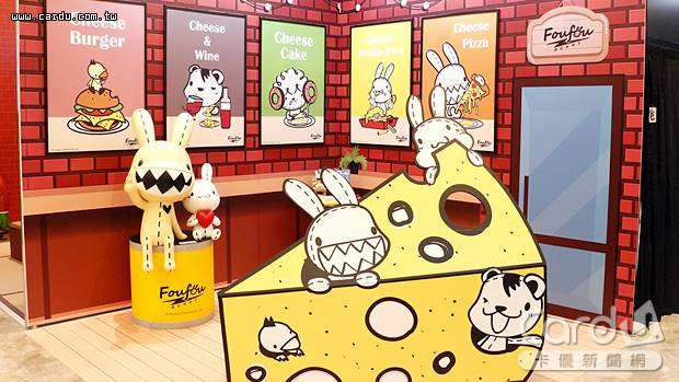 台灣文創品牌「Foufou BUNNY」場景在新光三越南西店9樓「夏日偶像派對」中展出(圖/新光三越 提供)
