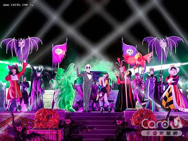 香港迪士尼在萬聖節檔期間,找來經典惡人聯手祭出「惡人舞動迪士尼」歌舞匯演(圖/香港迪士尼 提供)